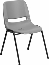 Bariatric Stack Chair Plastic Shell Gray