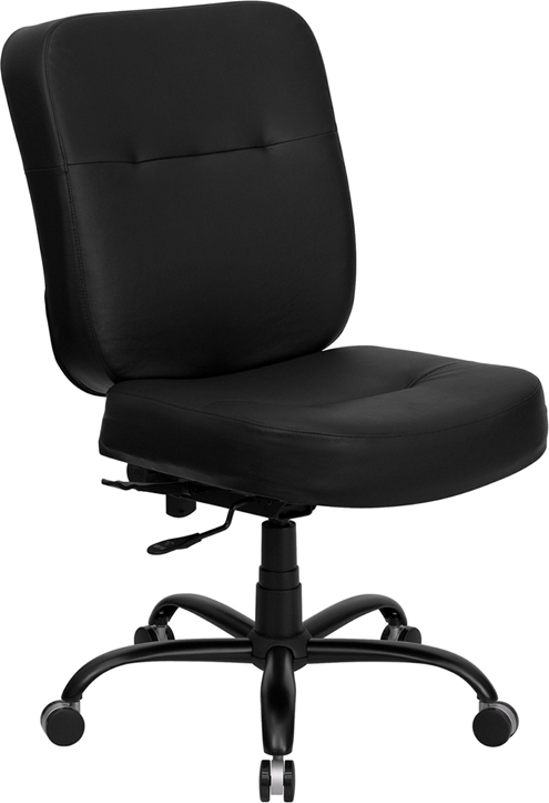 Charmant Bariatric Computer Chairs Continuous Use. PCB LO EVE, 400lbs. Capacity,  Ultra Tough 24/7 Continuous Use Armless Or With Arms Two Seat Sizes